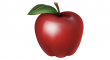 červených jablek