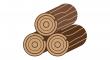opáleného dřeva