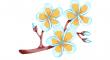 mandlových květů