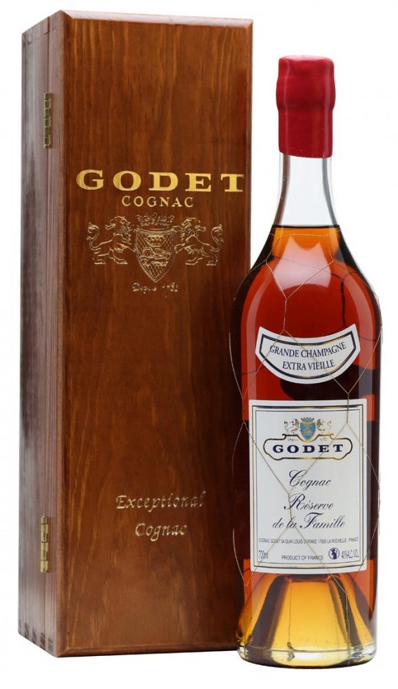 Godet Cognac Reserve de la Familie Extra Vielle Wooden Box