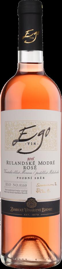Zámecké vinařství Bzenec Rulandske modre rose Ego U vinohradu 2019