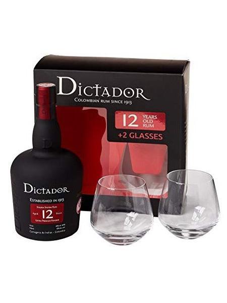 Dictador Rum 12yo Columbia Gift Box 2x sklenice