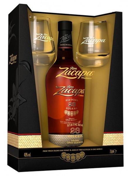 Zacapa Rum 23 Solera Guatemala Paper Box 2x sklenice
