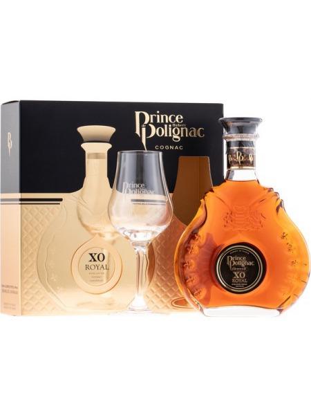 Prince Polignac Cognac XO 0.35l mini Gift Box 1x sklenice