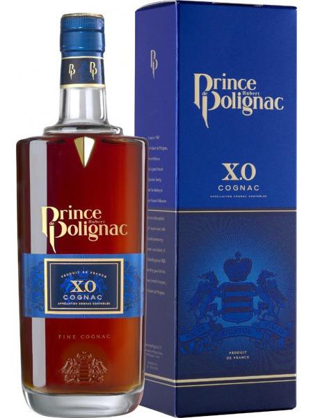 Prince Polignac Cognac XO metal box blue