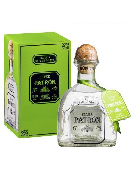Patron Tequila Silver 1l Paper Box