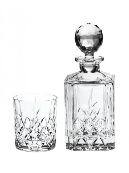 Ruzna Set karafa a 2 sklenice kristal