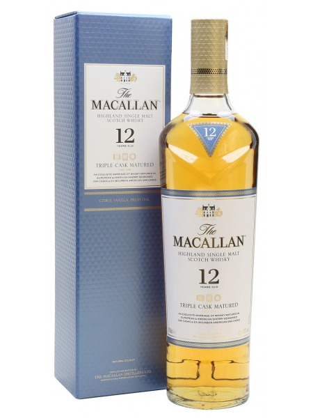 Macallan Whisky 12yo Triple Cask Speyside