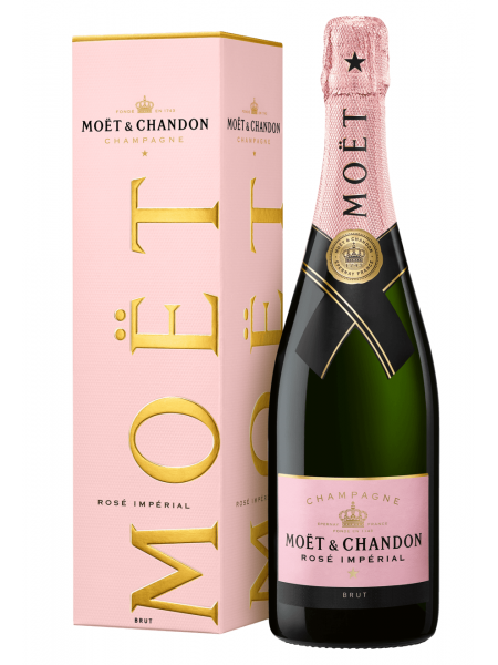 Moet & Chandon Champagne Imperial Rose Brut paper box