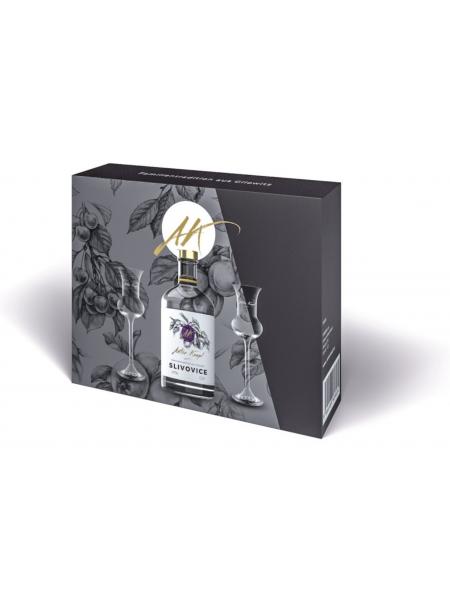 Anton Kaapl Darkovy box slivovice 0,5l 2 sklenice