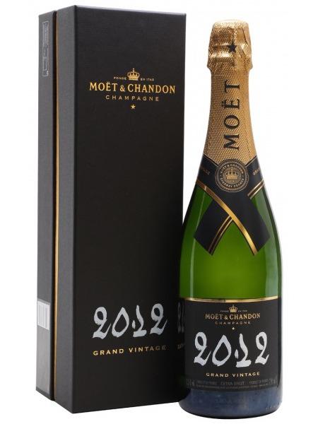 Moet & Chandon Champagne Grand Vintage Black 2012 Brut paper box