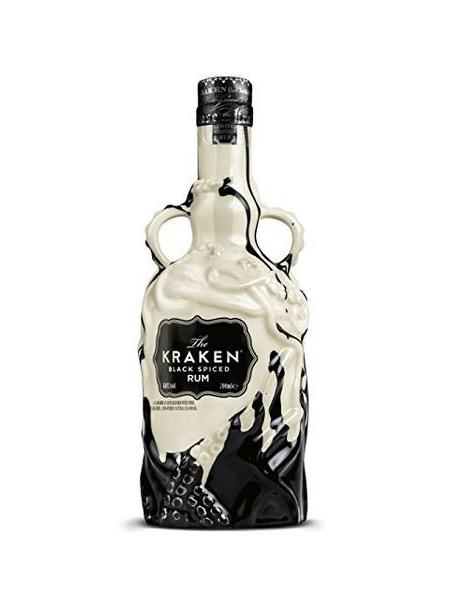Kraken Rum Black Spiced Ceramic Black and White