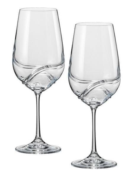 Crystalex Set 2 sklenice turbulence vino bile 350 ml